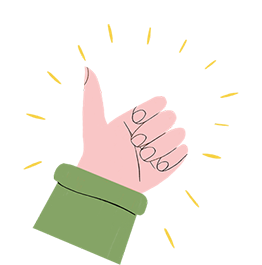 Illustration of a thumbs up