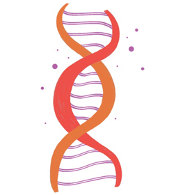 Illustration of DNA symbolizing biologic treatments for psoriasis