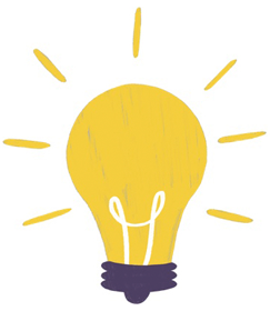 Illustration of a light bulb symbolizing light therapy for psoriasis